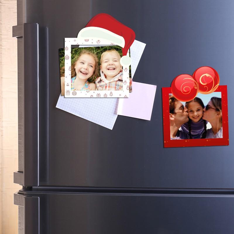 Marcos Imán Con Diseño De Navidad Para Decorar Tu Nevera Envío Gratis