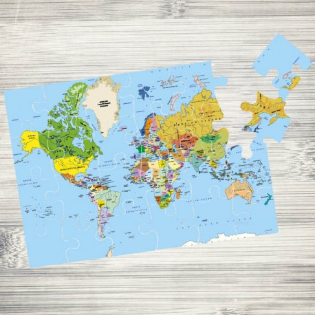 Puzzle mapa mundi 24 piezas