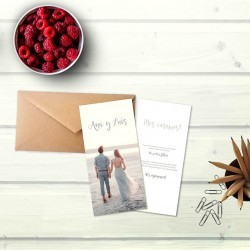 Invitación de boda tipo tarjetón