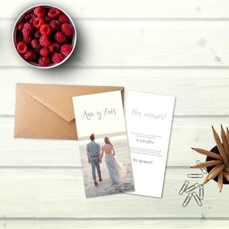 Invitación boda romántica